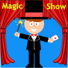 Magic android app. App with magic tricks. A magic show in your phone